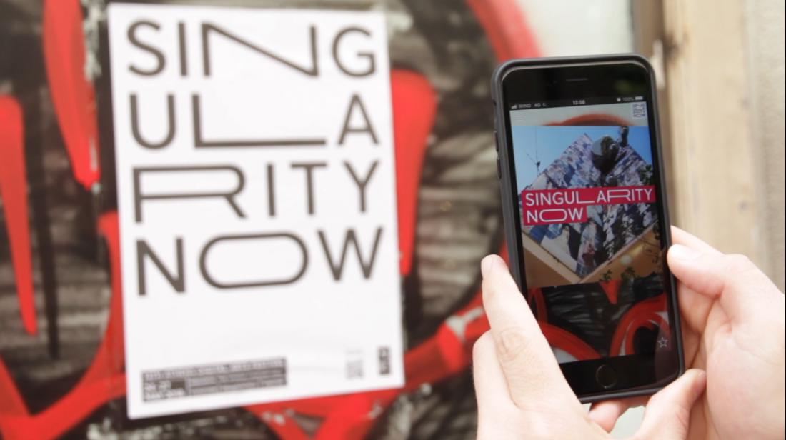 AR+ Poster Bombing | ADAF 2018 | Singularity Now